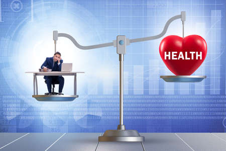 Concept of balance between work and the health