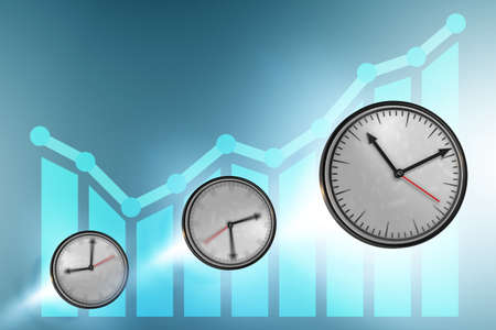 Illustration of the time and growth - 3d rendering