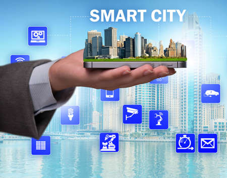 The smart city in innovation concept