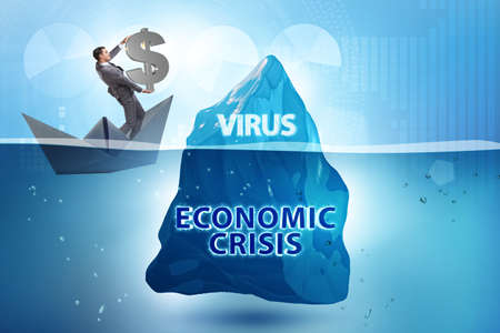 Economic crisis concept in coronavirus covid-19 Zdjęcie Seryjne