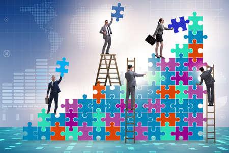 Businessman in the growth concept - business metaphor Zdjęcie Seryjne