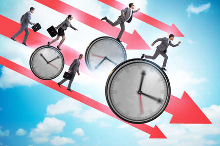 The concept of recession and decline with time clocks