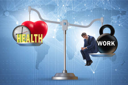 Concept of balance between work and health
