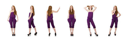 The woman in fashion clothing concept