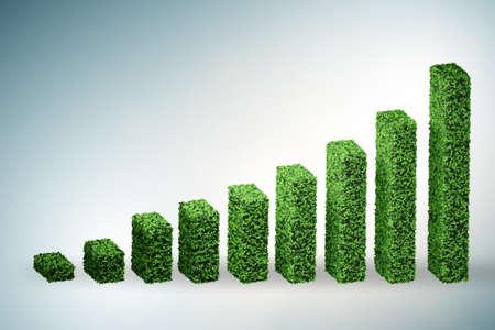 Green ecological concept - 3d rendering Imagens