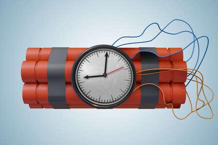 Dynamite sticks with dangerous explosives - 3d rendering Imagens