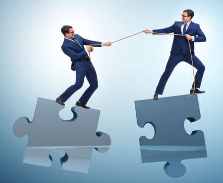Business concept of teamwork and competition