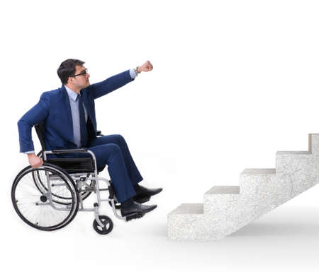 Accessibility concepth with wheelchair for disabled Stock Photo