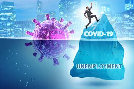 Economic crisis concept in coronavirus covid-19 Stock Photo
