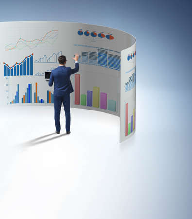 The concept of business charts and finance visualisation