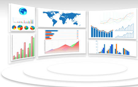The business charts and infographics concept