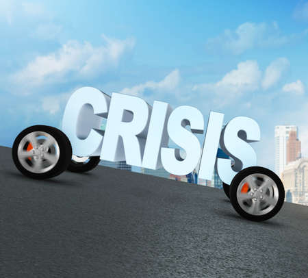 Business concept of crisis and recession Banque d'images