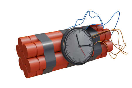 Dynamite sticks with dangerous explosives - 3d rendering Standard-Bild