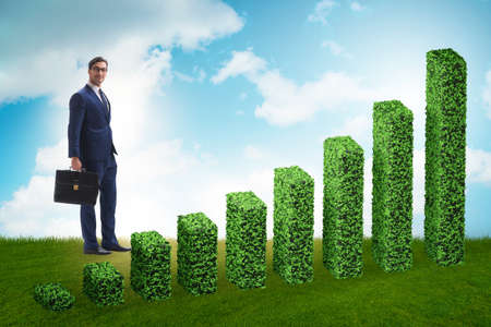 Businessman in green ecology growth concept Banque d'images