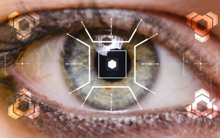 The concept of sensor implanted into human eye