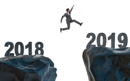 Concept of transition between 2018 and 2019 Standard-Bild