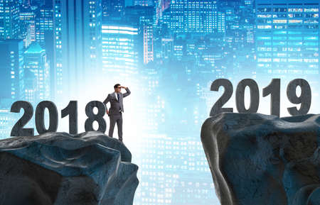 Businessman anticipating year of the 2019