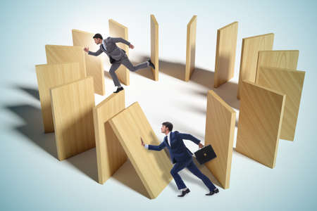 Domino effect and competition concept