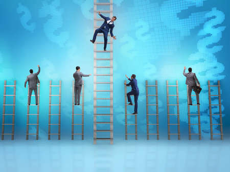 The employee being fired and falling from career ladder