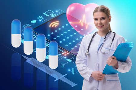 Telemedicine concept with remote diagnostics and consultation