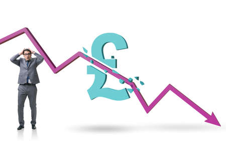 Concept of economic crisis and gbp pount inflation Archivio Fotografico
