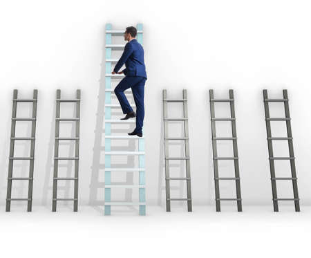 The career progression concept with various ladders