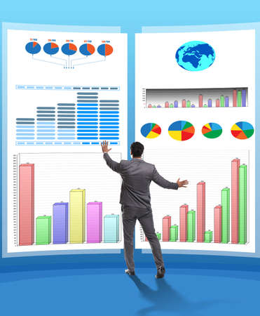 The concept of business charts and finance visualisation Zdjęcie Seryjne