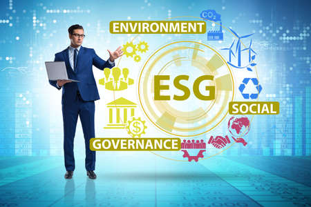 ESG concept as environmental and social governance with business Stock fotó