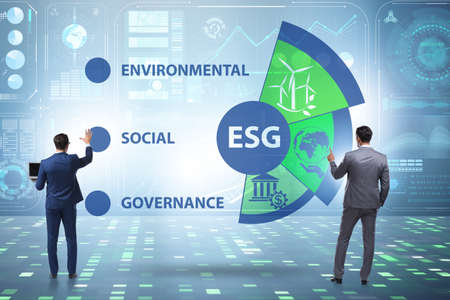 ESG concept as environmental and social governance with business Stock Photo