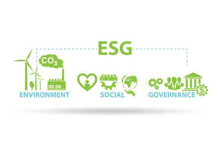 ESG concept as the environmental and social governance
