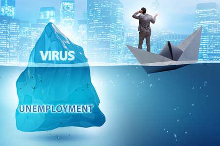 Economic crisis concept in coronavirus covid-19 写真素材