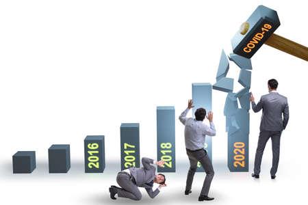Economic crisis due to coronavirus covid-19 写真素材