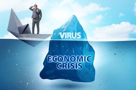 Economic crisis concept in coronavirus covid-19 Banque d'images