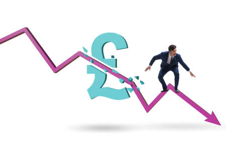 Concept of economic crisis and gbp pount inflation Banque d'images - 151432232
