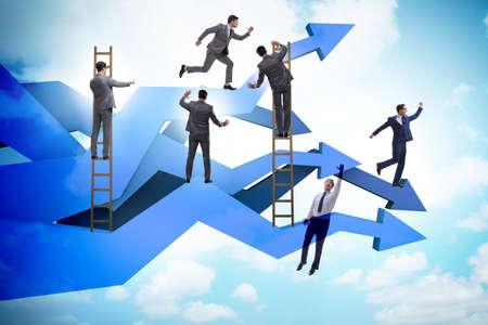 Businessman in business chart concept Banque d'images - 151432092