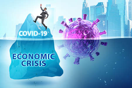 Economic crisis concept in coronavirus covid-19 Banque d'images - 151432098