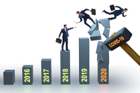 Economic crisis due to coronavirus covid-19 Banque d'images - 151432101