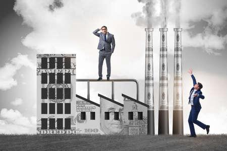 Businessman in carbon tax concept Banque d'images - 151432073