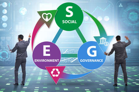 ESG concept as environmental and social governance with business 写真素材