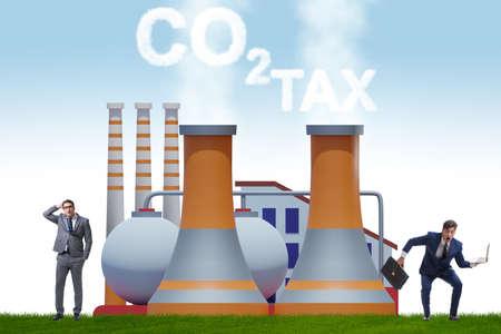 Businessman in carbon tax concept Banque d'images - 151431027
