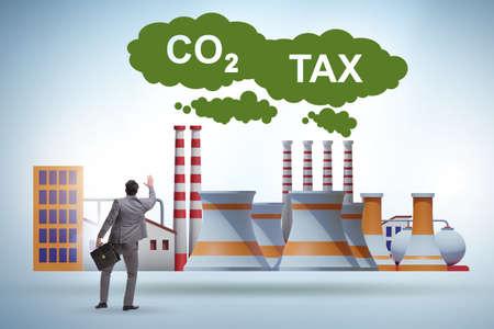 Businessman in carbon tax concept Banque d'images - 151431033