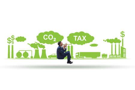 Businessman in carbon tax concept Banque d'images - 151431038
