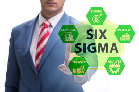 Concept of Lean management with six sigma Banque d'images