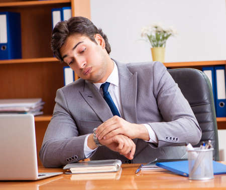 Young employee working in the office Stock fotó
