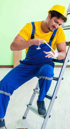 Injured worker at the work site