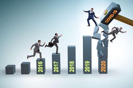 Economic crisis due to coronavirus covid-19 Banque d'images