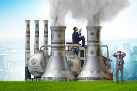Businessman in carbon tax concept Banque d'images