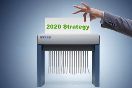 Concept of failed strategy and plans in 2020 Stok Fotoğraf