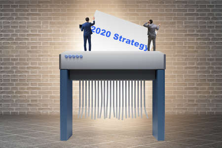 Concept of failed strategy and plans in 2020