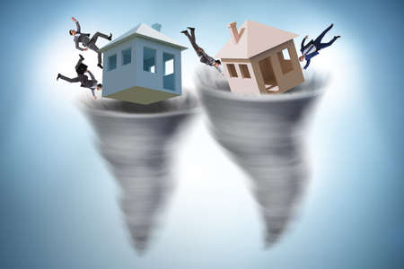 Man losing his home in hurricane